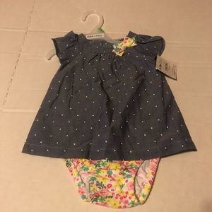 New With Tags Carter's Baby Girl 6-9 Month Dress